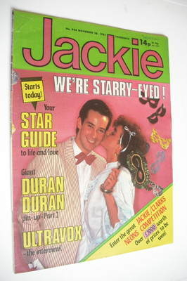 <!--1981-11-28-->Jackie magazine - 28 November 1981 (Issue 934)