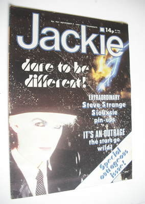 <!--1981-11-07-->Jackie magazine - 7 November 1981 (Issue 931 - Steve Stran