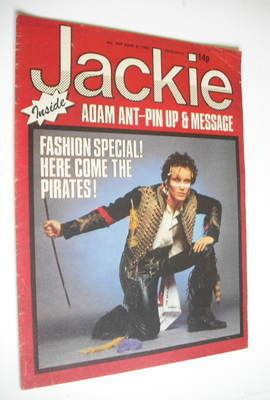 <!--1981-06-06-->Jackie magazine - 6 June 1981 (Issue 909 - Adam Ant cover)