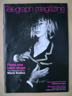 <!--1999-10-09-->Telegraph magazine - The Paris Fashion Shows cover (9 Octo
