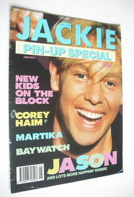 <!--1990-01-->Jackie magazine - Pin-Up Special - Jason Donovan cover
