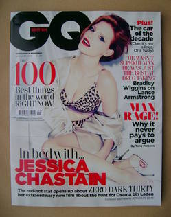 <!--2013-01-->British GQ magazine - January 2013 - Jessica Chastain cover