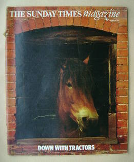 <!--1977-10-30-->The Sunday Times magazine - Down With Tractors cover (30 O