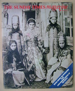 <!--1977-10-16-->The Sunday Times magazine - Abkhazian Girls cover (16 Octo