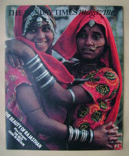 <!--1977-04-03-->The Sunday Times magazine - Women of Rajasthan cover (3 Ap