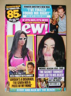 <!--2009-07-06-->New magazine - 6 July 2009 - Jordan/Michael Jackson cover