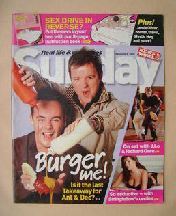 <!--2005-02-06-->Sunday magazine - 6 February 2005 - Ant and Dec cover