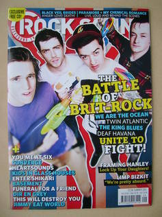 <!--2011-08-->Rock Sound magazine - The Battle of Brit-Rock cover (Summer 2