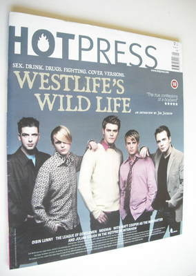 <!--2001-05-23-->Hot Press magazine - Westlife cover (23 May 2001)