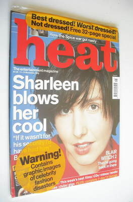 <!--1999-11-11-->Heat magazine - Sharleen Spiteri cover (11-17 November 199