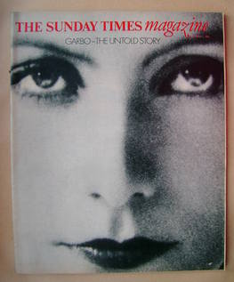 <!--1980-09-07-->The Sunday Times magazine - Greta Garbo cover (7 September