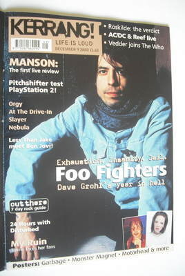 <!--2000-12-09-->Kerrang magazine - Dave Grohl cover (9 December 2000 - Iss