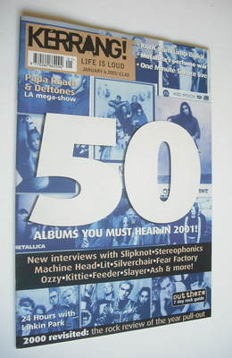 <!--2001-01-06-->Kerrang magazine - 50 Albums You Must Hear cover (6 Januar