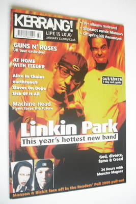 <!--2001-01-13-->Kerrang magazine - Linkin Park cover (13 January 2001 - Is