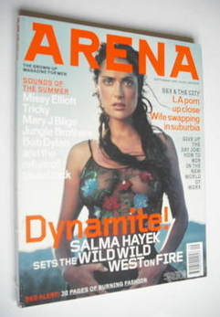 <!--1999-09-->Arena magazine - September 1999 - Salma Hayek cover
