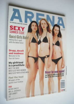 Arena magazine - July/August 1997 - Gucci Girls cover