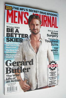 <!--2012-11-->Men's Journal magazine - November 2012 - Gerard Butler cover