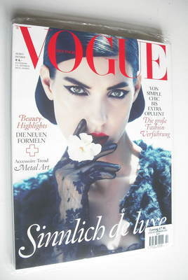 <!--2012-10-->German Vogue magazine - October 2012 - Kati Nescher cover