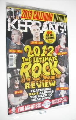 <!--2012-12-15-->Kerrang magazine - The Ultimate Rock Review cover (15 Dece