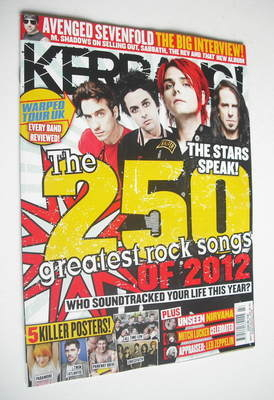 <!--2012-11-24-->Kerrang magazine - The 250 Greatest Rock Songs Of 2012 cov