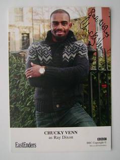 Chucky Venn autograph (EastEnders actor)