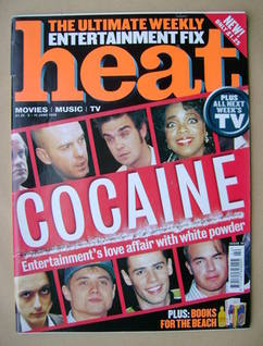 Heat magazine - Cocaine cover (5-11 June 1999 - Issue 18)