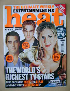 Heat magazine - The World's Richest TV Stars cover (19-25 June 1999 - Issue 20)