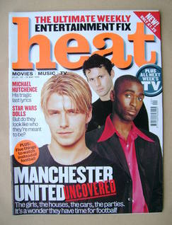 Heat magazine - David Beckham, Ryan Giggs, Andy Cole cover (22-28 May 1999 - Issue 16)