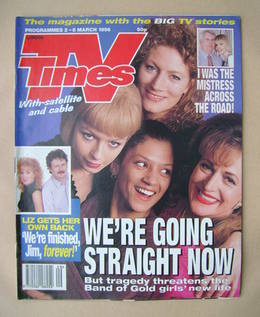 <!--1996-03-02-->TV Times magazine - Band of Gold cover (2-8 March 1996)