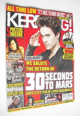 <!--2012-11-17-->Kerrang magazine - Jared Leto cover (17 November 2012 - Is