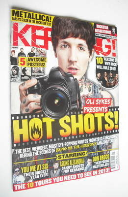 <!--2013-01-05-->Kerrang magazine - Oli Sykes cover (5 January 2013 - Issue