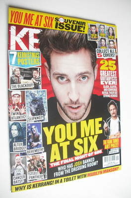 <!--2012-12-08-->Kerrang magazine - Josh Franceschi cover (8 December 2012