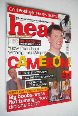 <!--2003-08-02-->Heat magazine - Cameron Stout cover (2-8 August 2003 - Iss