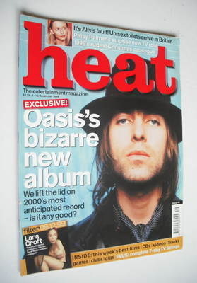 <!--1999-12-09-->Heat magazine - Liam Gallagher cover (9-15 December 1999 -