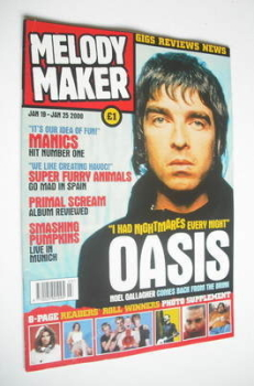 Melody Maker magazine - Noel Gallagher cover (19-25 January 2000)
