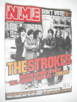 NME magazine - The Strokes cover (9 June 2001)