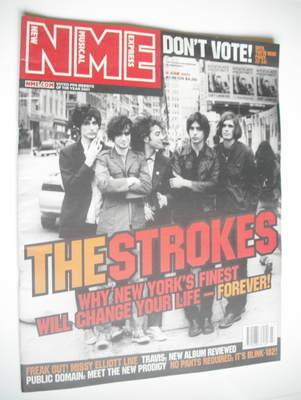 <!--2001-06-09-->NME magazine - The Strokes cover (9 June 2001)