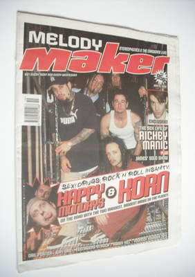 <!--1999-05-15-->Melody Maker magazine - Happy Mondays and Korn cover (15 M