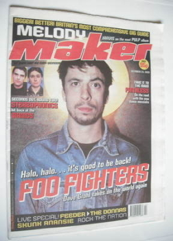 Melody Maker magazine - Dave Grohl cover (23 October 1999)