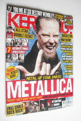 <!--2012-12-22-->Kerrang magazine - Metallica cover (22 December 2012 - Iss