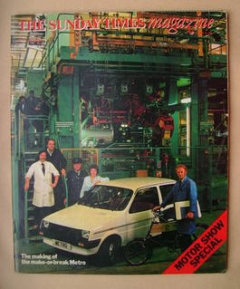 <!--1980-10-12-->The Sunday Times magazine - Motor Show Special (12 October