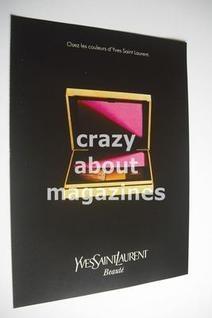 YSL cosmetics advertisement page (ref. F-YS0001)