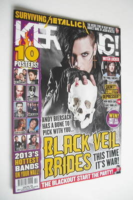 <!--2013-01-12-->Kerrang magazine - Andy Biersack cover (12 January 2013 -