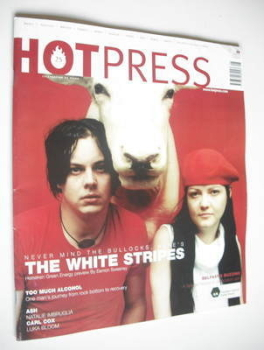 Hot Press magazine - The White Stripes cover (8 May 2002)