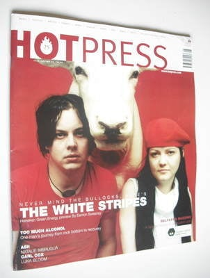 <!--2002-05-08-->Hot Press magazine - The White Stripes cover (8 May 2002)