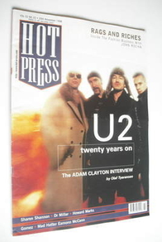 Hot Press magazine - U2 cover (25 November 1998)