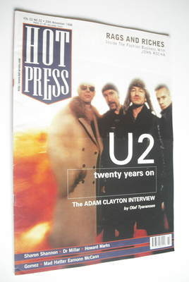 <!--1998-11-25-->Hot Press magazine - U2 cover (25 November 1998)