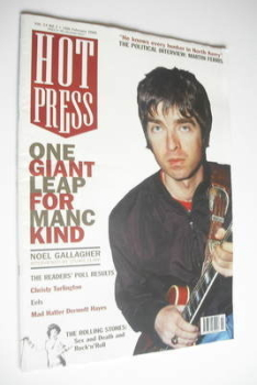 Hot Press magazine - Noel Gallagher cover (16 February 2000)