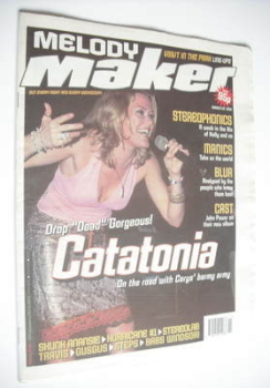 Melody Maker magazine - Catatonia cover (20 March 1999)