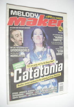 Melody Maker magazine - Catatonia cover (29 May 1999)